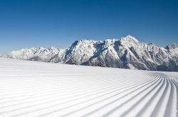 Freshly prepared ski slopes