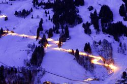 Floodlit piste in the Salzburger Land